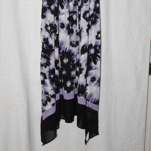 Vera Wang Black/White & Purple Gown